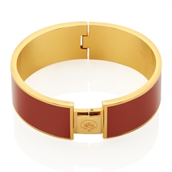 Newbridge Silverware Rose Goldplate Bangle Red