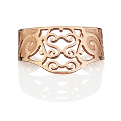 Newbridge Silverware Rose Goldplate Celtic Bangle