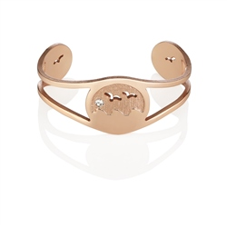 Newbridge Silverware Rose Goldplate Ocean Bangle