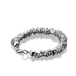 Newbridge Silverware Beaded Heart Bracelet