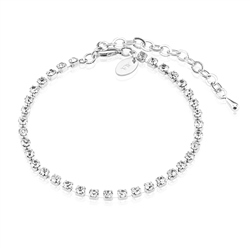 Newbridge Silverware Bracelet Multi Clear Stones