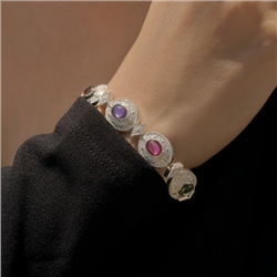 Newbridge Silverware Bracelet Multi Coloured Stone