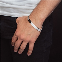 Newbridge Silverware Mens Identity Bracelet