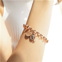 Newbridge Silverware Guinness Rose Gold Charm Bracelet