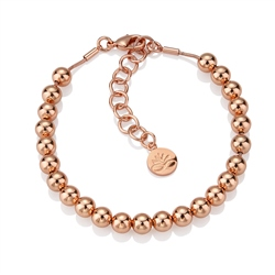 Rose Gold Plate Small Bead Bracelet by Newbridge Silverware