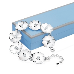 Newbridge Silverware Waterlily link Bracelet
