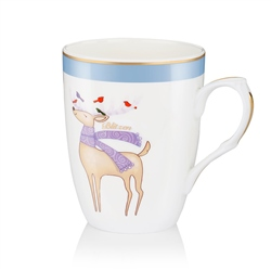 Newbridge Silverware Blitzen Christmas Mug