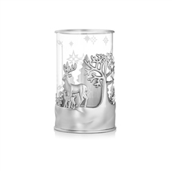 Christmas Deers Tea Light Holder by Newbridge Silverware