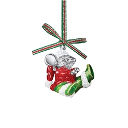 Newbridge Silverware Christmas Mouse Hanging Decoration