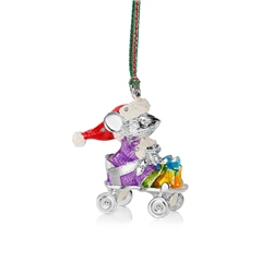 Newbridge Silverware Christmas Mouse in Cart