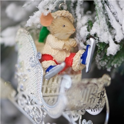 Newbridge Silverware Christmas Mouse in Sleigh