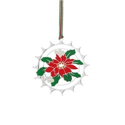 Newbridge Silverware Christmas Poinsettia Hanging Decor