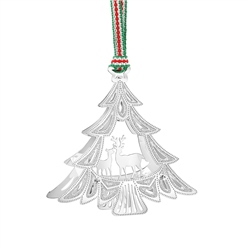 Newbridge Silverware Christmas Tree with Deers Decor
