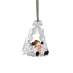 Newbridge Silverware Christmas Tree with Snowman