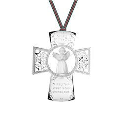 Cross with Angel Ornament by Newbridge Silverware