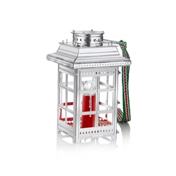 Newbridge Silverware Lantern with Red Candle