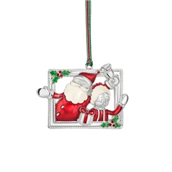 Mr and Mrs Claus Hanging Decoration by Newbridge Silverware