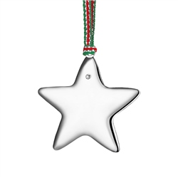 Silverplate Star with Clear Stone