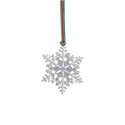 Newbridge Silverware Snowflake Clear Stones Decoration