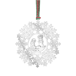 Newbridge Silverware Snowflake with Nativity Decor