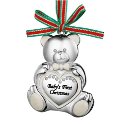 Newbridge Silverware Teddy Bear Babys First Christmas