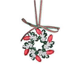 Wreath Decoration Coloured Stones by Newbridge Silverware