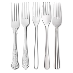 Stainless Steel Dessert Forks by Newbridge Silverware