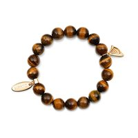 Newbridge Silverware Guinness Beaded Bracelet Brown