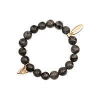 Newbridge Silverware Guinness Beaded Bracelet Charcoal