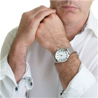 Mens Watch With Mesh Bracelet