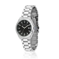 Newbridge Silverware Mens Watch With Black Dial And Link Bracelet