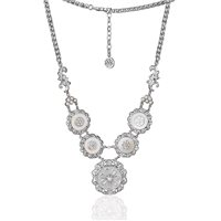 Floral Shell Pearl Necklace by Newbridge Silverware