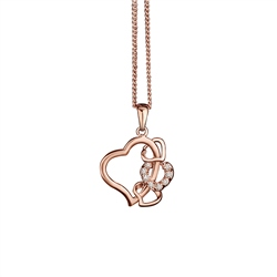 Newbridge Silverware Rose Goldplated Pendant