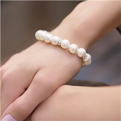 Pearl with Crystal Bracelet