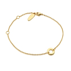 Newbridge Silverware Link Bracelet Centre Disc