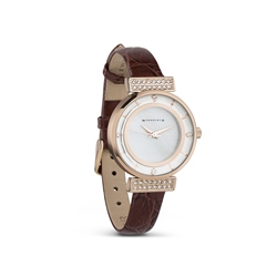 Ladies Watch Leather Strap Brown