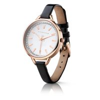 Ladies Watch Round Face Black