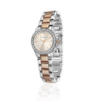Rose Gold & Silver Plated Round Watch