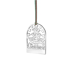 Newbridge Silverware Engraveable Christmas Tree Decoration