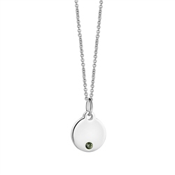 Newbridge Silverware Birthstone Pendant August