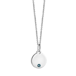 Newbridge Silverware Birthstone Pendant December