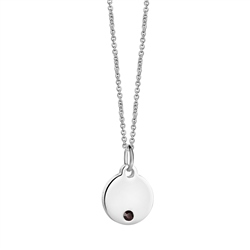 Newbridge Silverware Birthstone Pendant January