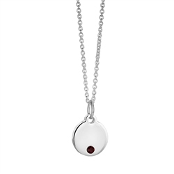 Newbridge Silverware Birthstone Pendant July