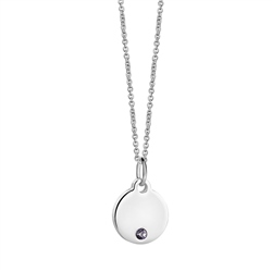 Newbridge Silverware Birthstone Pendant June
