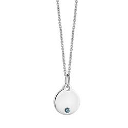 Newbridge Silverware Birthstone Pendant March