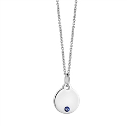 Newbridge Silverware Birthstone Pendant September
