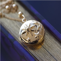 Locket with Sun Moon & Stars