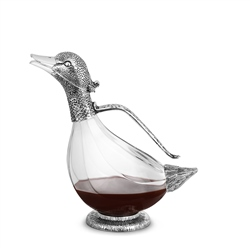 Silver Plated Duck Wine Decanter