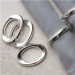 Silver Plated Oval Napkin Rings set of 6