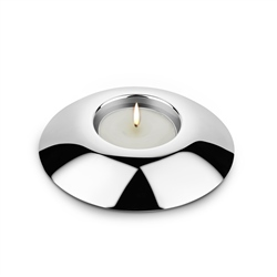 Silver Plated Round Tealight Holder